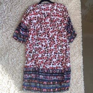 Other - Floral Beach Cover Up Dress Sz L
